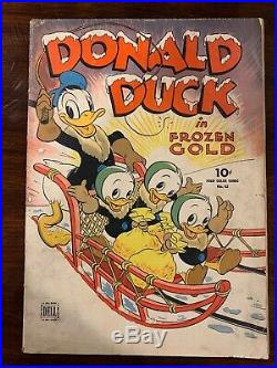1945 DELL FOUR COLOR Donald Duck #62 FROZEN GOLD Early Barks Art