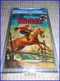 1951 Dell Four Color FC #329 Roy Rogers Trigger #1 CGC 7.5