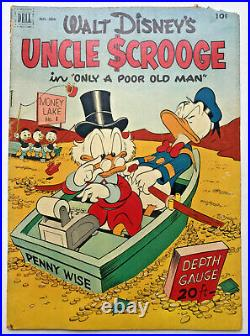 1952 Four Color 386 UNCLE SCROOGE #1 Dell Comic Book Carl Barks CLASSIC