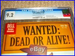 1960 Dell Four Color FC #1102 Wanted Dead or Alive! CGC 9.2 NM