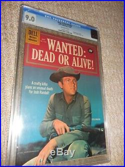 1961 Dell Four Color FC #1164 WantedDead or Alive! CGC 9.0 VF/NM