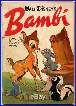 BAMBI- Four Color Comics #12 1942- Walt Disney VG