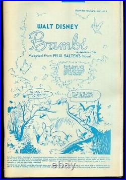 Bambi 1984 Gold Key/Whitman RARE Blue Line Press Proof REFour Color 186 FREE S/