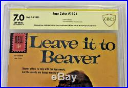 CBCS Graded 7.0 Leave it to Beaver, Four Color # 1191, 1961, Signed DOW, MATHERS
