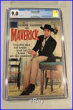 CGC 9.0 Four Color 892 Maverick #1 1958 1st app James Garner TV show western HTF