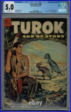 Cgc 5.0 Four Color #596 1st Appearance Turok Son Of Stone The Dinosaur Hunter