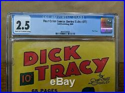 DICK TRACY in Four Color Comics #1 (NN) Dell 1939 Key Golden Age CGC 2.5
