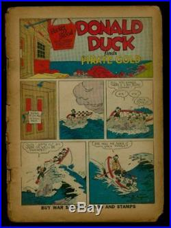 Dell FOUR COLOR Comics #9 1942 1st DONALD DUCK By Barks FR-/FR. 8-1.0