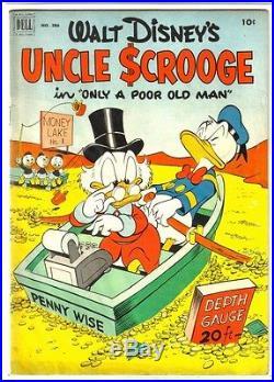 Dell Four Color #386 UNCLE SCROOGE (#1) Vintage Golden Age Comic Book VG