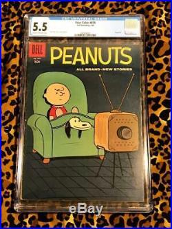 Dell Four Color 878 Peanuts #1 Feb 1958 CGC 5.5 1st Solo Peanuts Comic