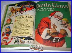 Dell Santa Claus Funnies 1- Four Color 1274 Bound Volume Lot Run Set Walt Kelly