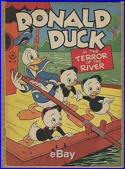 Donald Duck Four Color #108 Terror of the River! 1942 (Grade 6.0/6.5) WH