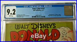 FOUR COLOR #147, CGC GRADED 9.2! , WHITE pages, CARL BARKS