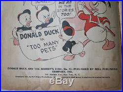 FOUR COLOR # 29 US DELL 9/1943 Donald Duck Mummy's Ring 2nd Carl Barks G