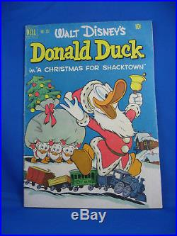 FOUR COLOR 367 DONALD DUCK F+ Barks UNCLE SCROOGE CHRISTMAS 1952