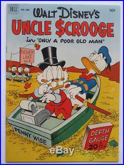 FOUR COLOR # 386 US 1952 Uncle Scrooge #1'Only a poor old Man' Barks VFN tr