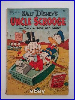 FOUR COLOR #386 Walt Disney's UNCLE SCROOGE #1 GD 2.0 CR/OW Pages DELL 1952