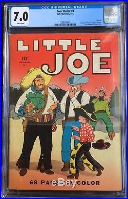 Four Color #1 Little Joe Dell Publishing 1942 CGC 7.0