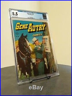 Four Color #100 Gene Autry Comics CGC 8.5 OFF WHITE TO WHITE PAGES