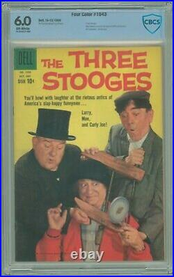 Four Color # 1043 CBCS 6.0 FN Three Stooges 1959 1st Dell Issue HTF