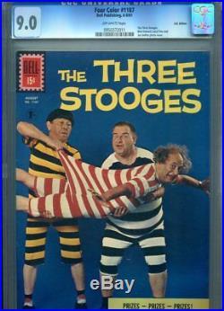 Four Color #1187 Cgc Hi Grade 9.0 Uk Edition Rare Three Stooges Photo Cover
