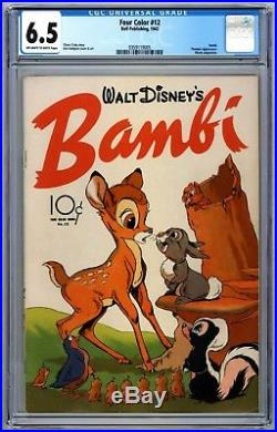 Four Color #12 CGC 6 5 Bambi Thumper Movie Adaptation 1942