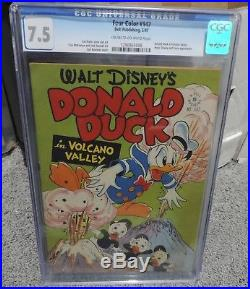 Four Color #147 Donald Duck In Volcano Valley Cgc Graded 7.5