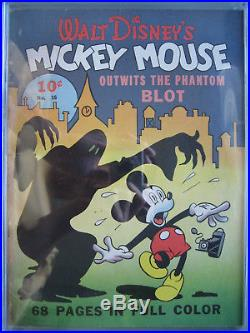Four Color #16 1st Mickey Mouse CGC 1.5 Universal Rare Dell Publishing 1941