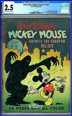 Four Color #16 CGC 2.5 (C-OW) 1st Mickey Mouse Comic Book