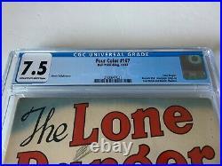Four Color 167 Cgc 7.5 Lone Ranger Silver Dell Comics 1947