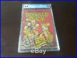Four Color #178 (1947) Dell Comics 3.0 CGC OW Pages Uncle Scrooge