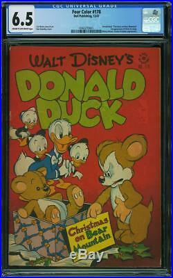 Four Color #178 CGC 6.5 Dell 1947 1st Uncle Scrooge! Key Golden! H12 341 cm