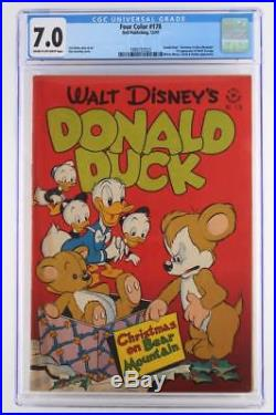 Four Color #178 CGC 7.0 Dell 1947 -Donald Duck- 1st App of Uncle Scrooge