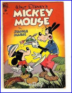 Four Color # 181 FN Dell Golden Age Comic Book Mickey Mouse Walt Disney JL19