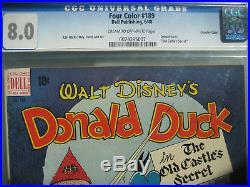 Four Color #189 Donald Duck Old Castle Secret CGC 8.0 Universal Dell Comics 1948