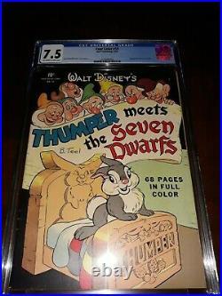 Four Color 19 Thumper Meets the Seven Dwarfs (1942) CGC 7.5 Golden Age Disney