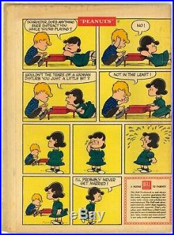 Four Color (1942) #878 1st Print Peanuts #1 Charles Schulz Cover The Trip Good