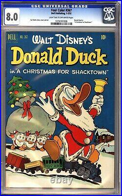 Four Color 367 CGC 8.0 Donald Duck Christmas for Shacktown Carl Barks art