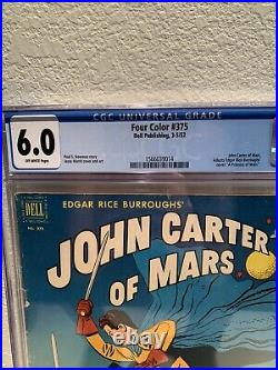 Four Color #375 John Carter of Mars CGC 6.0 Dell March 1952 Disney+ Fresh Slab