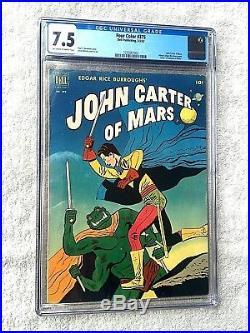 Four Color #375 John Carter of Mars CGC 7.5 Dell Mar 1952 Off-wht/Wht Pgs +BONUS