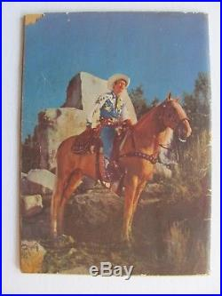 Four Color #38 (1944) Roy Rogers 1st Western photo cover. From IRS Collection