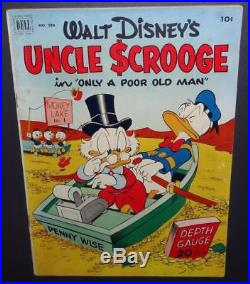 Four Color #386 1952 7.0 Uncle Scrooge #1 Only A Poor Old Man BV$1000 70%Off