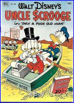 Four Color #386,456&495 Uncle Scrooge VERY FIRST 3 ISSUES 1952-53 DellCharity