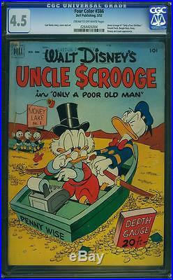 Four Color 386 CGC 4.5 Uncle Scrooge 1 (Classic Cover) Carl Barks Story and Art