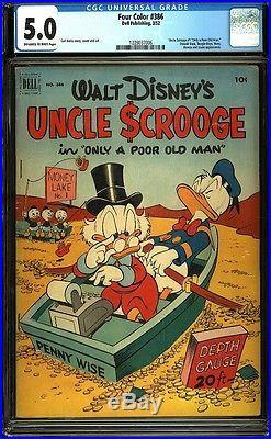Four Color 386 CGC 5.0 Golden Age Key Dell Comic Uncle Scrooge L@@K IGKC