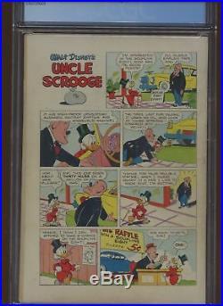 Four Color #386 CGC 5.5 Dell 1952 Uncle Scrooge #1! Key Golden Age! H9 369 cm
