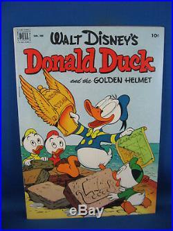 Four Color 408 Donald Duck Barks F+ Golden Helmet 1952