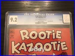 Four Color #415 Rootie Kazootie CGC 9.2 FILE COPY! Dell Golden Age 1952