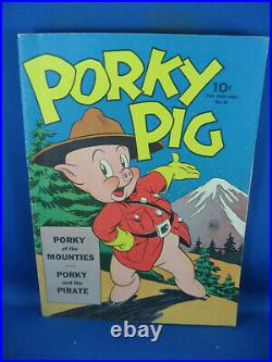 Four Color 48 Porky Pig Of The Mounties F Vf Carl Barks 1944 Rcmp