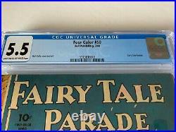 Four Color 50 Cgc 5.5 Fairy Tale Parade Walt Kelly Dell Comics 1944